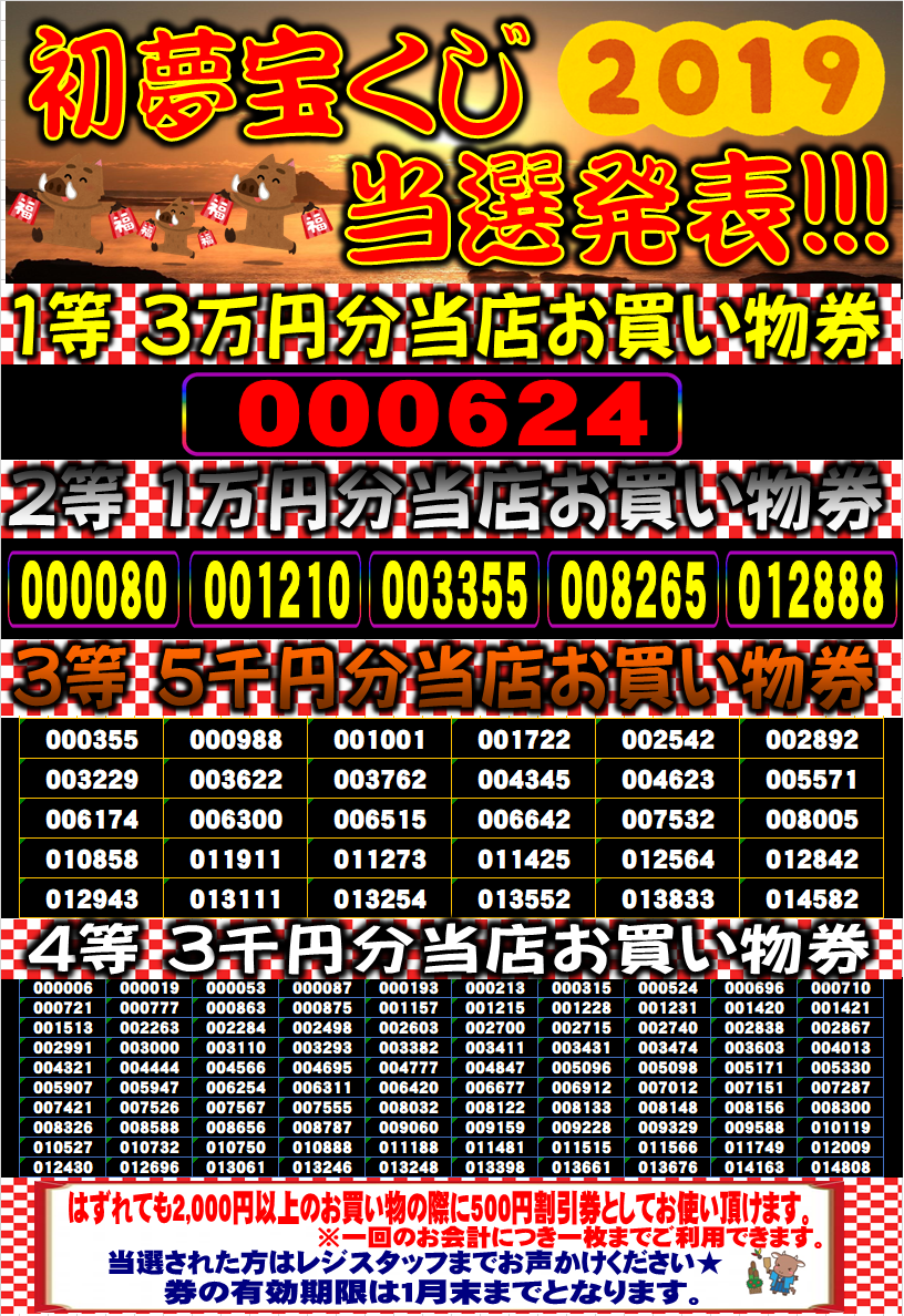 宝くじ 初夢 2020